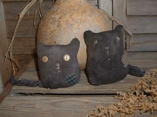 Daughternature Primitive Folk Art: Sock Cats, Scrap Dolls, Aged Pears, etc....