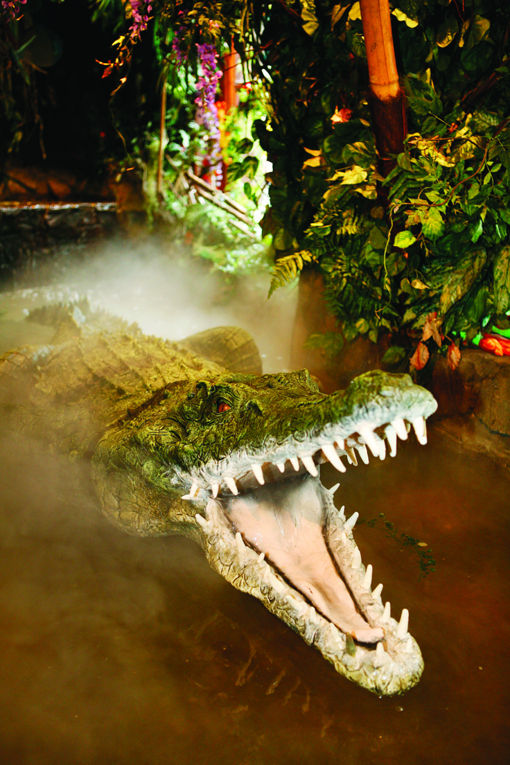 Here in our Retail Village you'll meet the first of our friendly characters in the restaurant, like Nile the crocodile... don't get to close though!