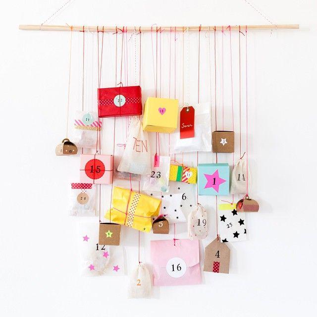 5 Creative Advent Calendars, via WeeBirdy.com. Blank Goods DIY Advent Calendar.