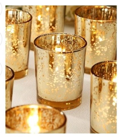 96 Gold, Silver, Or Amber mercury votives value pack
