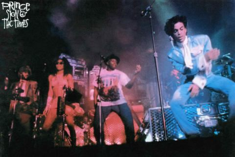 Sign o' the Times official movie promo photo! This also appeared in the Rolling Stone Kurt Loder article and fascinated me and drove my imagination wild as to how that concert was! Prince was so funky and freaky here! What was that new dance move like?! And who was that new female dancer!?