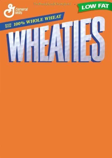 Blank Wheaties Box