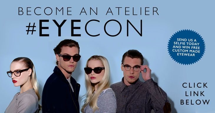 We at Atelier Eyewear are on a search for stylish, fashion forward people to become an Atelier #Eyecon!  If you have what we're looking for, upload a selfie wearing your favourite sunglasses for a chance to win a pair of Custom Made Glasses or Sunglasses worth over £300! Go to www.ateliereyecon... NOW!