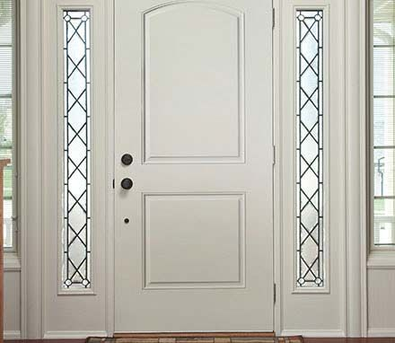 Pella 2 Panel Arch Entry Door Solid Panel Pella Com
