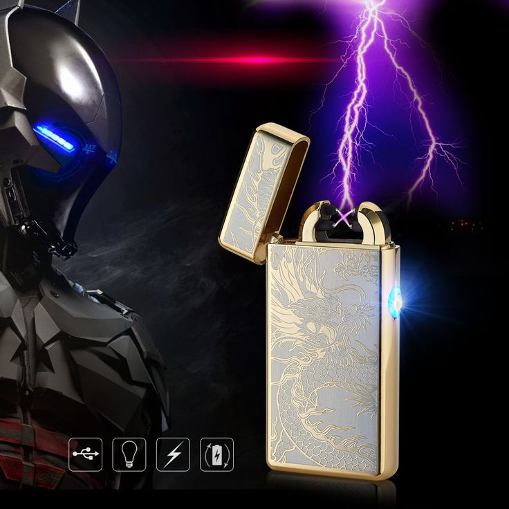 Cigar Cigarette Novelty Usb Rechargeable Electric Arc Lighters Personalized Cross Double Pulse Slim Lighter No Gas Smokeless #CLICK! #clothing, #shoes, #jewelry, #women, #men, #hats