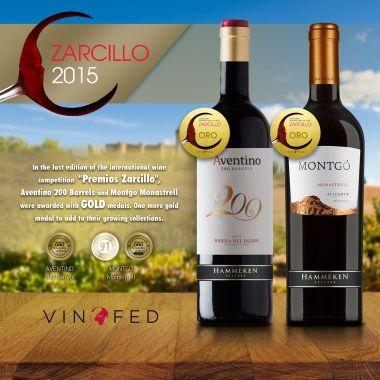PREMIOS ZARCILLO - Two Gold Medals   News & Events   Hammeken Cellars