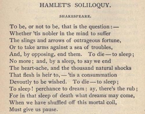 Shakespeare-Hamlet's Soliloquy