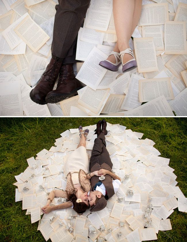 Book Pages Love