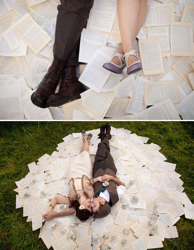 love stories = paper flower bouquet