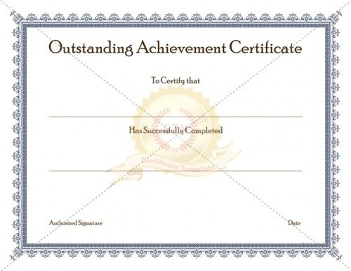 Outstanding Achievement Certificate Template is given to someone who has achieved outstanding performance in his or her discipline.  Outstanding Achievement Award is given every time to one or more  individuals in honor of his or her exemplary contribution. It can be also given to individuals for exemplary academic performance and community services.