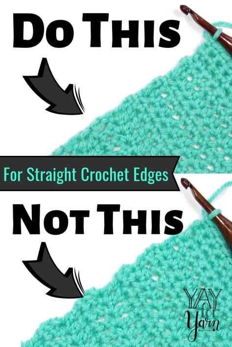 Use os pontos de partida sem correntes para dar ao seu Crochet uma borda perfeitamente reta!