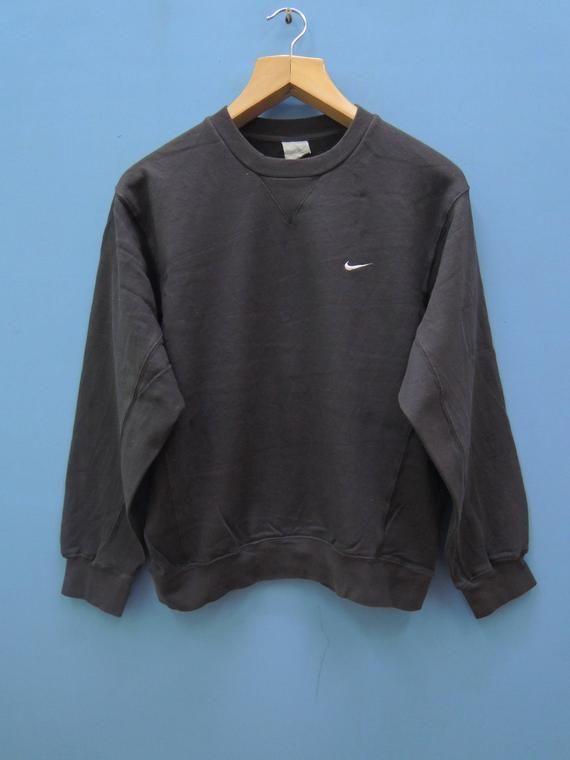 Vintage Nike Minimalist Logo Sport Sweatshirt Pull Over
