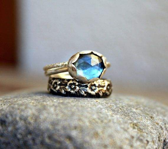 Hey, I found this really awesome Etsy listing at https://www.etsy.com/listing/207724095/set-of-three-stacking-rings-rose-cut