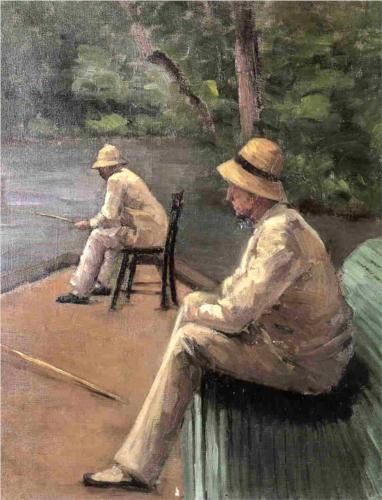 Fishermen on the Banks of the Yerres - Gustave Caillebotte