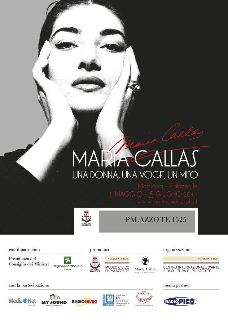"""Manifesto per la mostra della """"Callas"""" a Palazzo Te di Mantova."""