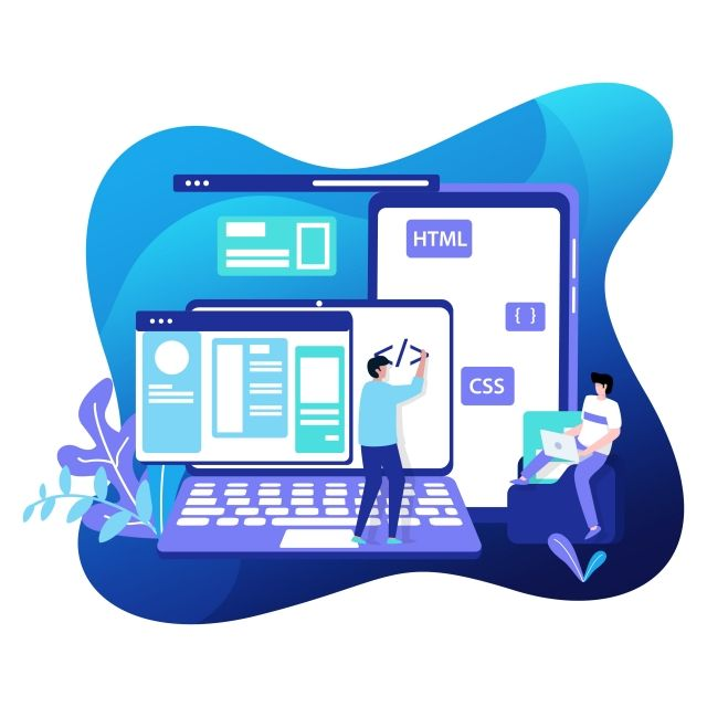 Web Development Illustration Modern Internet Clipart Can Be Used For Landing Pages Web Png And Vector With Transparent Background For Free Download Fun Website Design Web Development Wordpress Website Development
