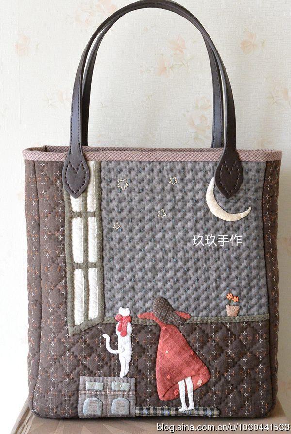 Quilted Tote bag by Jiu Jiu 1128_ Sina blog