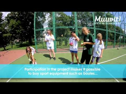 """This is an example of """"Muuvit Poland"""" and shows how education, libraries and sport can be combined. With Muuvit, classes earn kilometers for a virtual journey around the world...In the library they seek information and contents about their Muuvit-journey."""