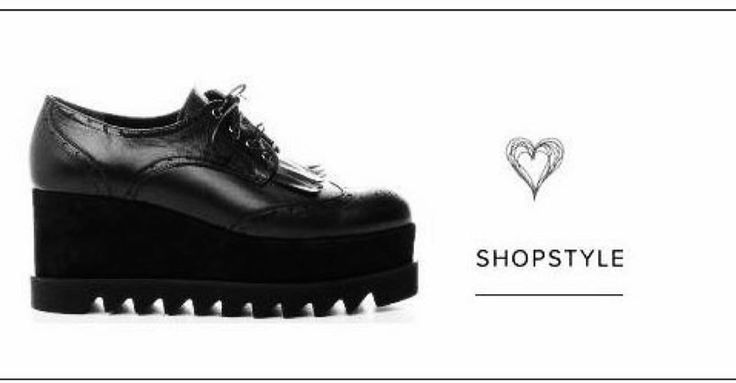 Available NOW in @sider_stores Black Leather Oxford wedge brogues#shoes #siderstores #instafashion #perforated #fringed #women #style