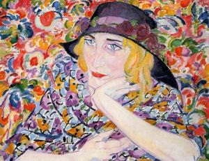 Leo Gestel (Netherlands 1881-1941), Woman with Flowers