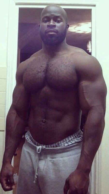 Big, Hairy, Muscled, And Veinyyum  Hot Black Guys -2312