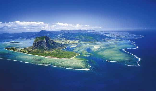 île Maurice, vu du ciel