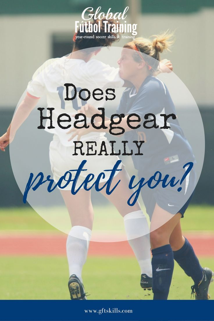 """A common question I am asked is 'what do you think about headgear in soccer?"""" Headgear does not protect you if you don't' head the ball right. You must head the ball and not let the ball hit you. There is a district difference. Also, there are over 12 different ways to head the ball appropriately. Learn more about protecting yourself while heading a ball in soccer, as well as more information about our headers and concussions course."""