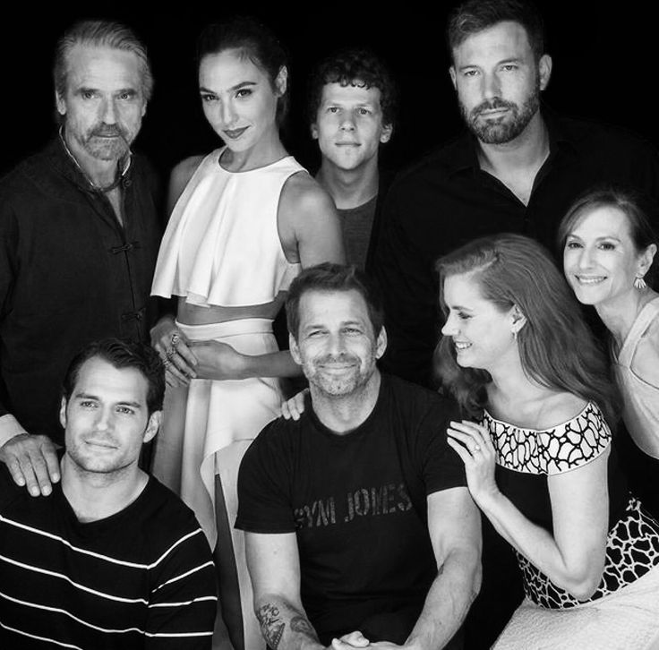 Henry Cavill and the cast of Batman vs Superman