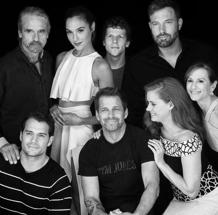 Henry Cavill and the cast of Batman vs Superman