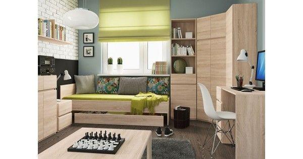 Detská izba ACADEMICA je určená ľuďom, ktorý majú radi jednoduchý tvar a minimalizmus. Kúzlo prírodných vlákien dreva a jednoduchý tvar sú ideálnou kombináciou. Nábytok je vhodný do detskej izby, obývacej izby, jedálne, kancelárie aj chodby.
