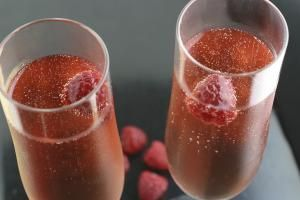 Enjoy the Fresh Sparkle of a Raspberry Bellini: A simple twist (or two) on a favorite and you have a delicious Raspberry Bellini.