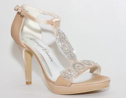 """""""Amelia"""" Embellished Satin Sandal Pumps"""