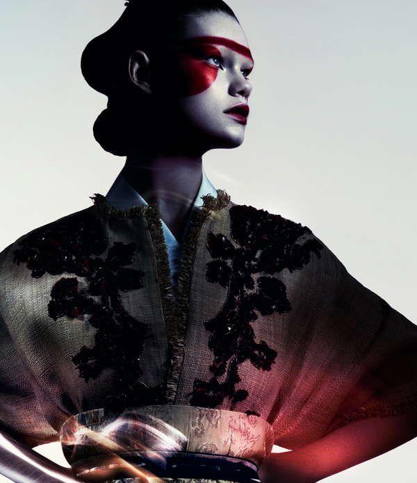 Sleek Samurai Editorials - The Flair Italia Caught Inside Photoshoot Displays…