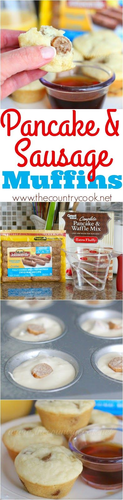The Country Cook: Pancake & Sausage Muffins