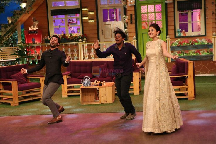 An Anushka Sharma ,Bollywood Actress In A Beige Color Anarkali Suit.She Used It In Kapil Sharma Show For Ae Dil Hai Mushkil Promotion