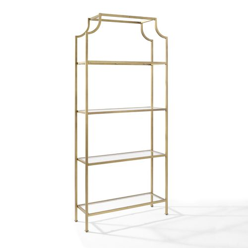 etagere in antique gold finish crosley