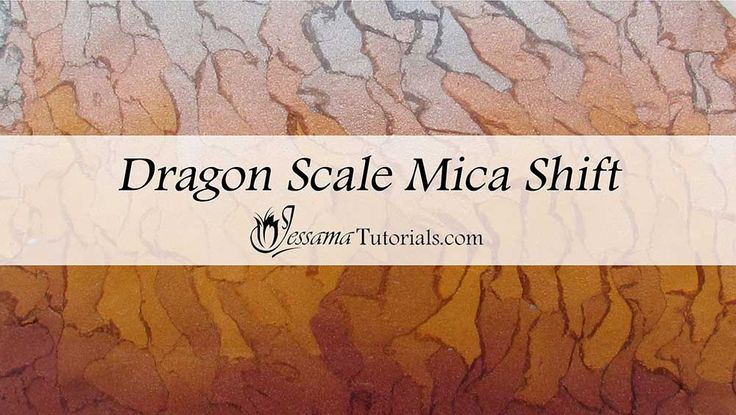 In this dragon scale polymer clay tutorial, I'll be showing a cool polymer clay mica shift using the same idea behind the watercolor or torn paper technique.