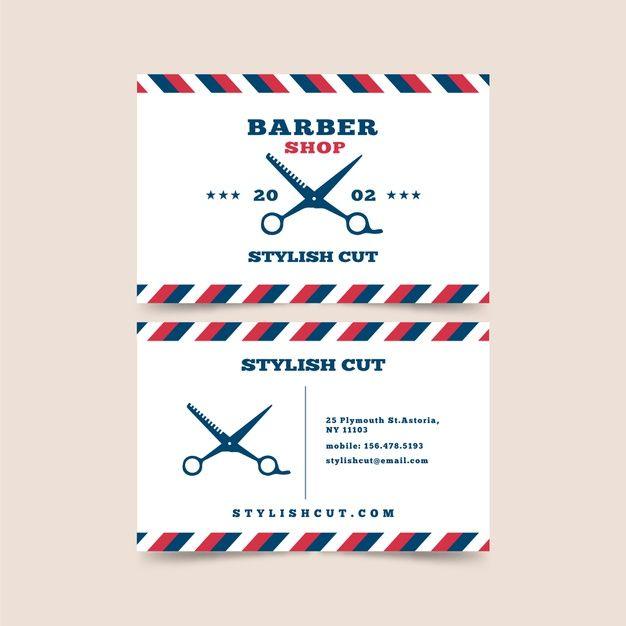 Download Business Card Design For Barber Shop With Scissors For Free In 2020 Business Card Design Download Business Card Card Design