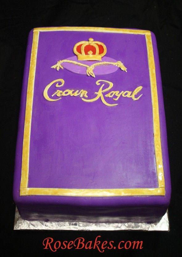 Crown Royal Cake | http://rosebakes.com/crown-royal-cake/