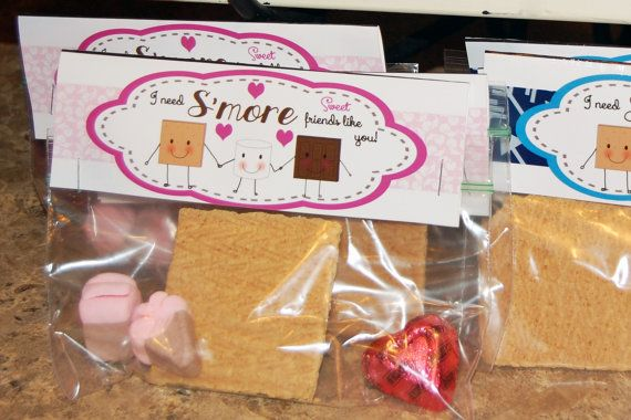 Printable Valentine Smore bag tag by FrostYourParty ...