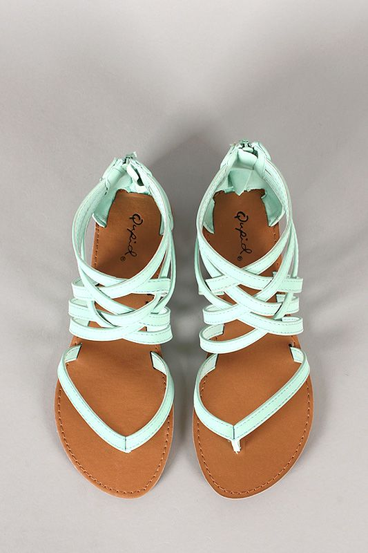Qupid Athena-566 Strappy Gladiator Thong Flat Sandal | How Cute Are These?!