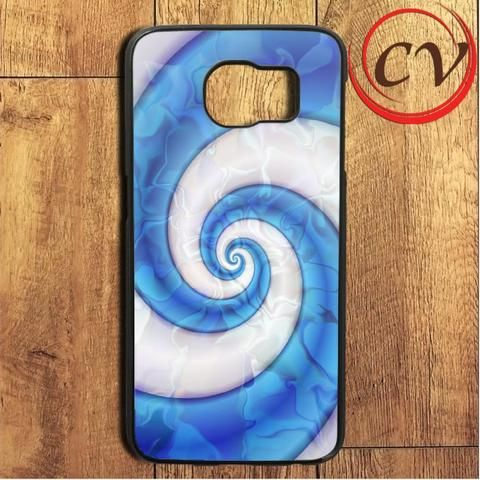 Abstract Blue Swirl Liquid Samsung Galaxy S6 Edge Plus Case