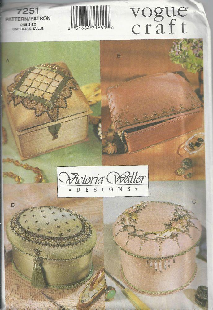 Vogue Craft 7251 Victoria Waller Design Pin Beaded Boxes