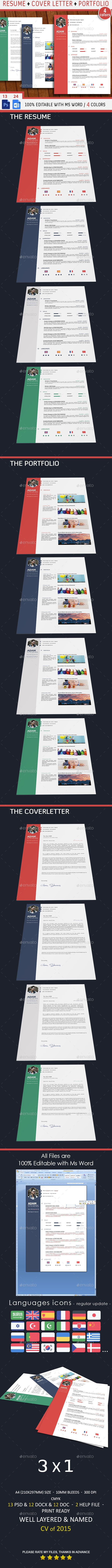 Professional Resume - CV - #Resumes #Stationery Download here: https://graphicriver.net/item/professional-resume-cv/9687662?ref=alena994