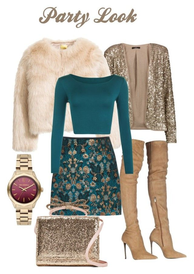 """""""Party Look Winter"""" by superficiales on Polyvore featuring moda, Roberto Cavalli, Tart, WearAll, Karl Lagerfeld y RED Valentino"""