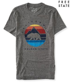 Free State Golden State Bear Graphic T -