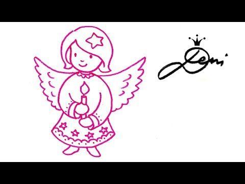 Engel malen ❄️ Wie zeichnet man schnell ein Engelchen How to draw an Angel рисува ангелче - YouTube
