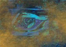 El ojo que todo lo ve. Pintura digital. Universo Solariana.