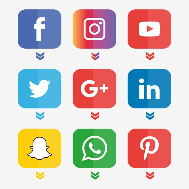 Social Media Icons Set Logo Vector Illustrator Social Icons Logo Icons Media Icons Png And Vector With Transparent Background For Free Download Social Media Icons Social Media Icons Free Media Icon