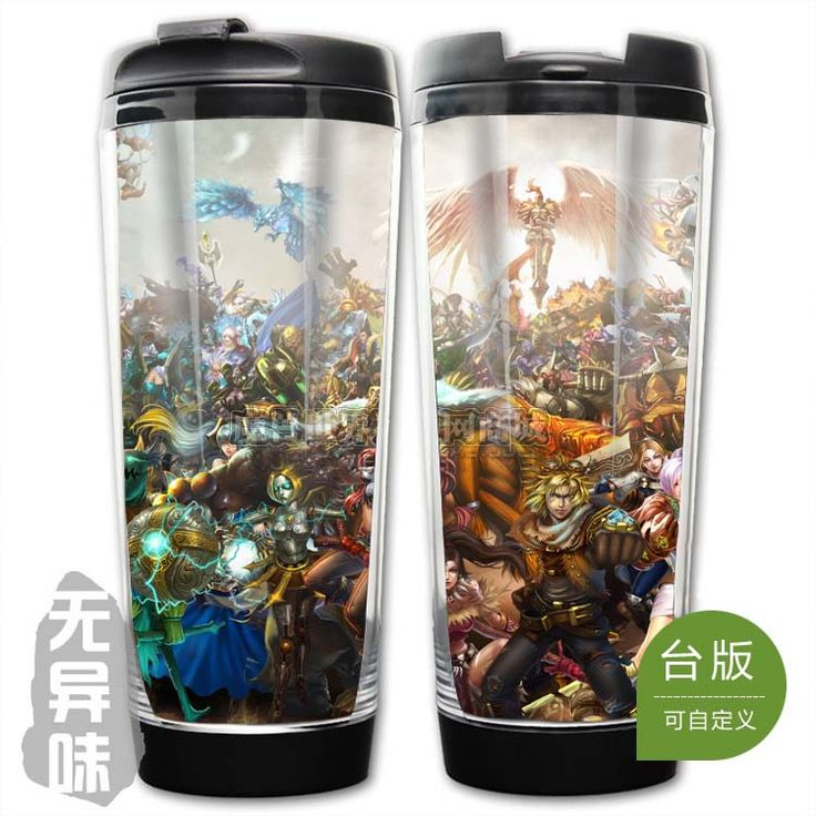 League of Legends LOL All Champions Plastic Coffee Cup